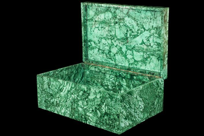 "Huge, 11.7"" Wide Malachite Jewelry Box - Stunning"