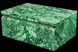 "Huge, 11.7"" Wide Malachite Jewelry Box - Stunning - #113044-3"