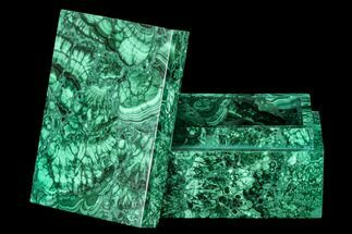 "4.5"" Wide Malachite Jewelry Box - Congo For Sale, #113447"