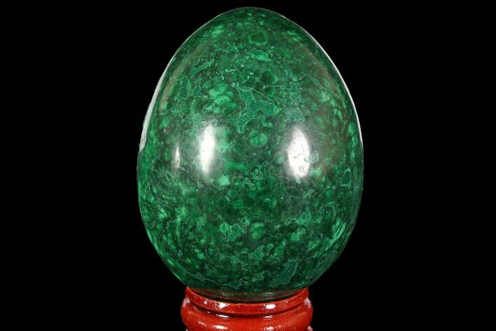 "Stunning, 2.5"" Polished Malachite Egg - Congo"