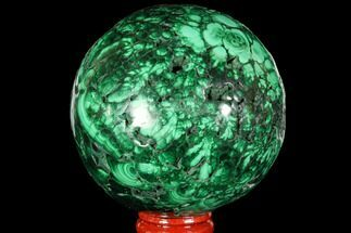 "Gorgeous 3.1"" Polished Malachite Sphere - Congo For Sale, #113417"