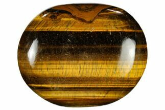 "2.5"" Polished Tiger's Eye Palm Stone - South Africa For Sale, #115550"