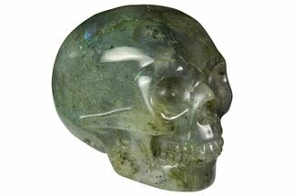 "Buy 2"" Realistic, Polished Labradorite Skull - #116305"