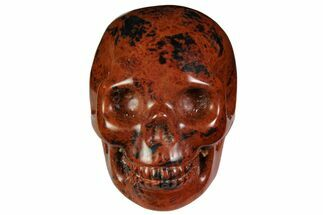 "2"" Realistic, Polished Mahogany Obsidian Skull For Sale, #116321"
