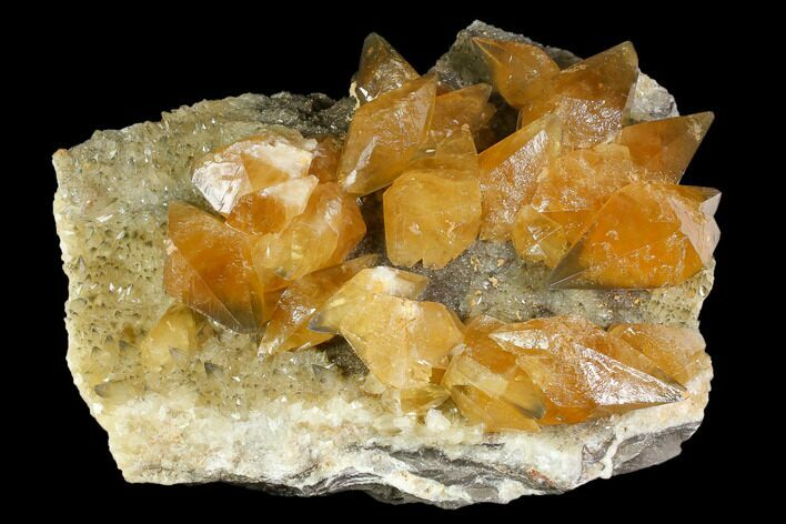 "Gorgeous, 14.2"" Golden Beam Calcite Crystal Cluster - Morocco"