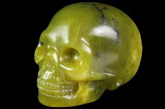 "Buy 2"" Realistic, Polished Jade (Nephrite) Skull - #116434"