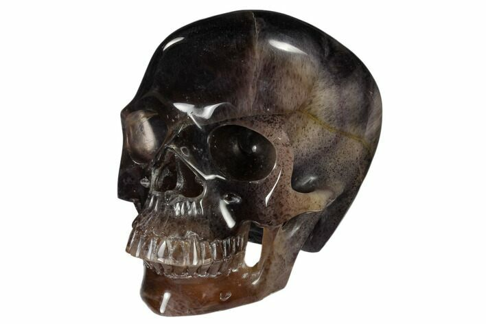 "7"" Realistic, Carved, Purple Fluorite Skull - China"