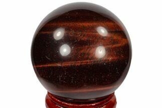 "Buy 1.6"" Polished Red Tiger's Eye Sphere - South Africa - #116092"
