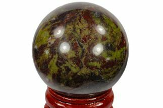 "Buy 1.6"" Polished Dragon's Blood Jasper Sphere - Australia - #116101"
