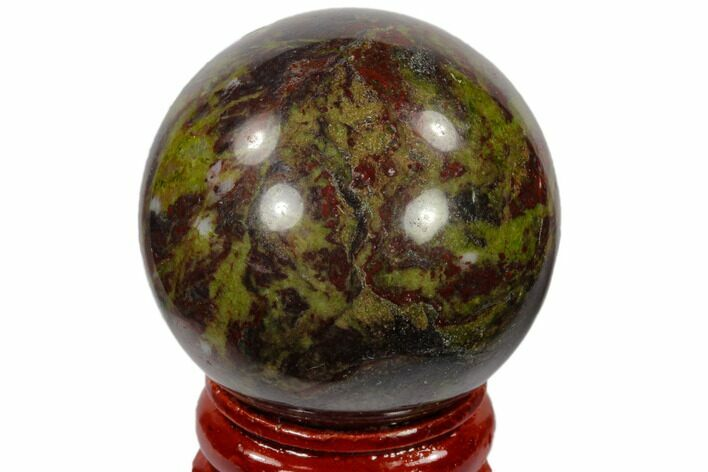 "1.6"" Polished Dragon's Blood Jasper Sphere - Australia"
