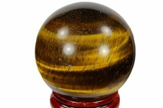 "Buy 1.6"" Polished Tiger's Eye Sphere - South Africa - #116071"