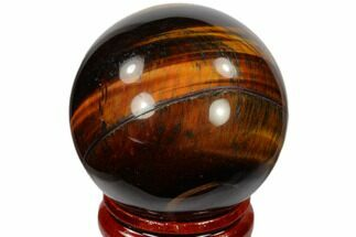 "Buy 1.6"" Polished Red Tiger's Eye Sphere - South Africa - #116080"