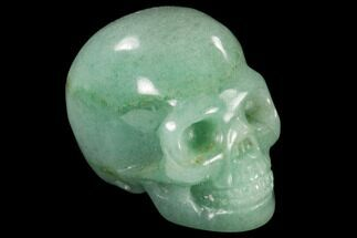 "Buy 2"" Realistic, Polished Green Aventurine Skull  - #116809"