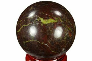 "1.6"" Polished Dragon's Blood Jasper Sphere - Australia For Sale, #116117"
