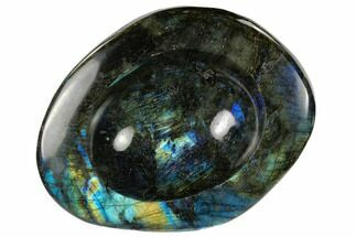 "Buy 7.6"" Polished, Flashy Labradorite Bowl - Madagascar - #117247"