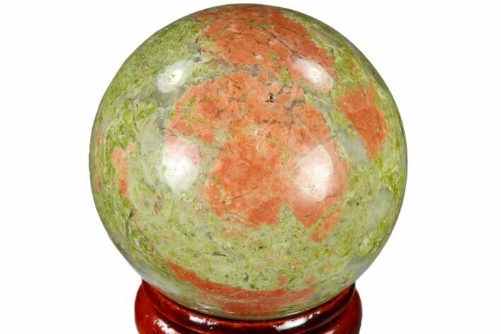 "1.55"" Polished Unakite Sphere - Canada"