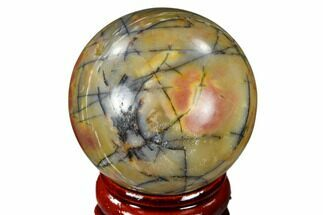 "1.55"" Polished Cherry Creek Jasper Sphere - China For Sale, #116204"