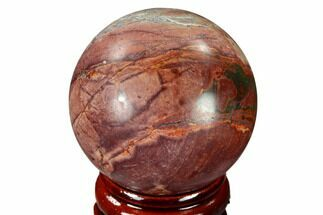 "Buy 1.55"" Polished Cherry Creek Jasper Sphere - China - #116209"