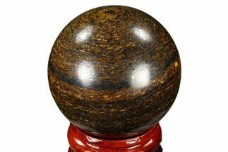"1.6"" Polished Bronzite Sphere - Brazil For Sale, #115988"