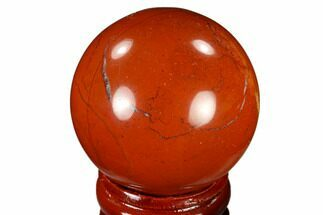 "Buy 1.6"" Polished Red Jasper Sphere - Brazil - #116032"