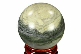 "Buy 1.6"" Polished Green Hair Jasper Sphere - China - #116245"