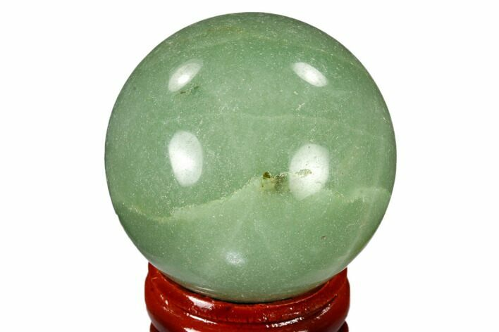 "1.6"" Polished Green Aventurine Sphere - China"