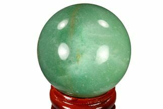 "1.6"" Polished Green Aventurine Sphere - China For Sale, #116012"