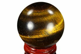 "Buy 1.6"" Polished Tiger's Eye Sphere - South Africa - #116062"