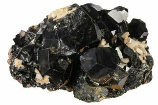 "Buy 2.3"" Black Tourmaline (Schorl) and Orthoclase Feldspar - Namibia - #117520"