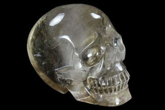 "Buy 3.3"" Carved, Smoky Quartz Crystal Skull - Madagascar - #118108"