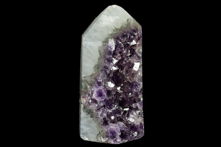 "5.3"" Tall, Polished Amethyst and Agate Obelisk - Uruguay"