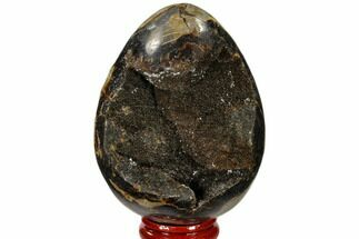 "Buy 3.2"" Septarian ""Dragon Egg"" Geode - Black Crystals - #118753"