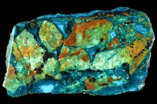 "Buy 3.3"" Polished Chrysocolla Slab - Bagdad Mine, Arizona - #118795"