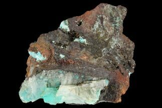 "1.8"" Aurichalcite Included Calcite Crystals - Mexico For Sale, #119177"