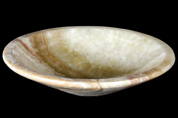"7.8"" Decorative, Carved Brown Calcite Bowl - Morocco"