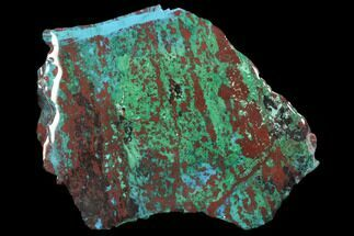 "5.1"" Chrysocolla & Malachite Slab From Arizona - Clear Coated For Sale, #119753"