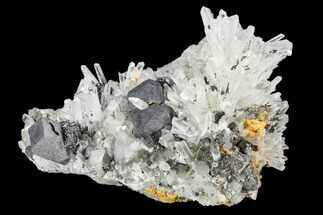 "Buy 4"" Quartz Crystals with Orpiment & Galena - Peru - #120124"