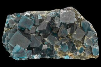 "4.4"" Blue Cubic Fluorite on Quartz - China For Sale, #120305"