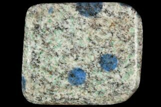 "Buy 1.7"" Polished K2 Granite (Granite With Azurite) - Pakistan - #120397"