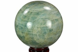 "Buy 3.6"" Polished Aquamarine Sphere - Angola, Africa - #114034"