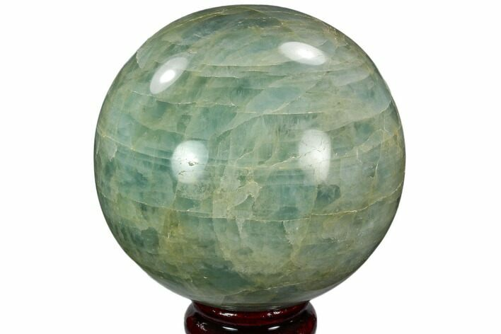"3.6"" Polished Aquamarine Sphere - Angola, Africa"