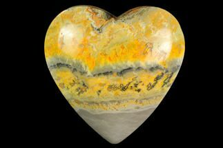 "Buy 3.2"" Polished Bumblebee Jasper Heart - Indonesia - #121192"