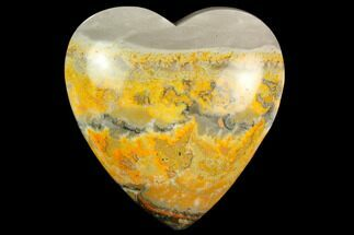 "Buy 3.15"" Polished Bumblebee Jasper Heart - Indonesia - #121207"