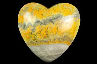 "3.1"" Polished Bumblebee Jasper Heart - Indonesia For Sale, #121217"