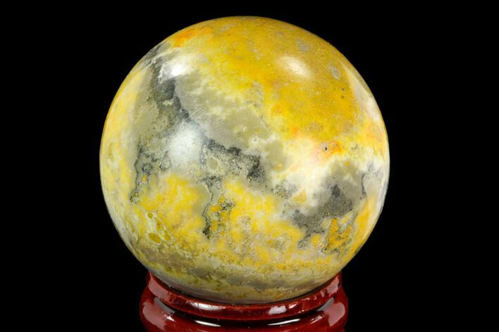 "1.6"" Polished Bumblebee Jasper Sphere - Indonesia"