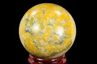 "1.7"" Polished Bumblebee Jasper Sphere - Indonesia For Sale, #121229"
