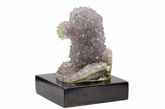 "3.4"" Tall, Amethyst ""Stalactite"" Formation On Wood Base - Uruguay For Sale, #121286"
