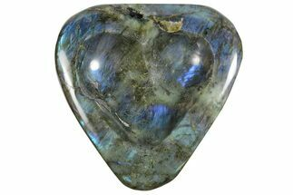 "6"" Flashy Labradorite Heart-Shaped Dish - Madagascar For Sale, #120734"