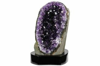 "6.4"" Tall, Dark Purple Amethyst Cluster With Base - Uruguay For Sale, #121439"