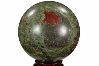 "Buy 3.2"" Polished Dragon's Blood Jasper Sphere - South Africa - #121573"